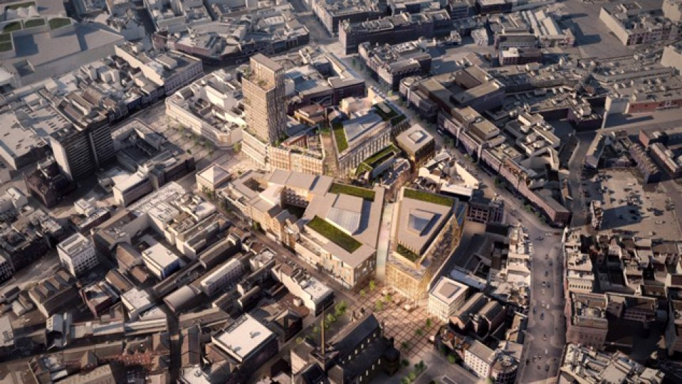 Who owns the City? 3D viewl of proposed redevelopment, Cathedral Quarter. Source: MCE